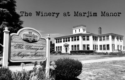 Marjim Manor spooky black and white photo