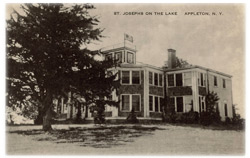 Vintage postcard of St. Joseph on the Lake building (now Marjim Manor)