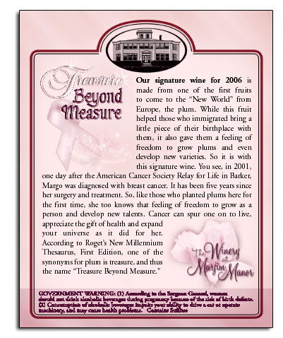 Treasure Beyond Measure back label