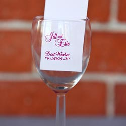 Personalized wine glass in red